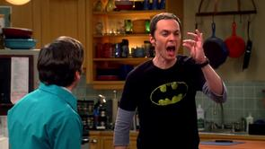 Sheldon's Faded Batman Shirt