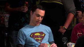 Sheldon's Sky Blue Superman Shirt