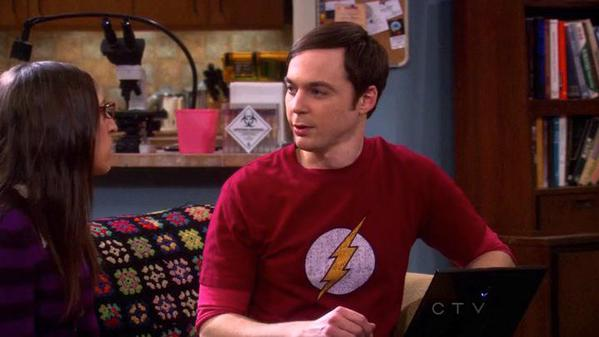 Sheldon's Distressed Flash Shirt