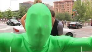 Charlie's Green Man Suit