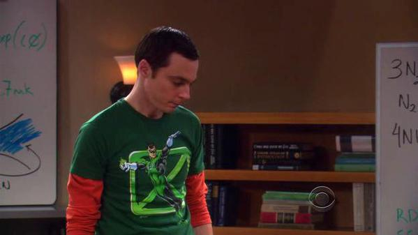 Sheldon's Flying Green Lantern Shirt
