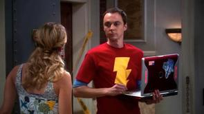 Sheldon's Shazam Shirt