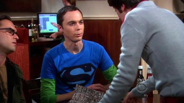 Sheldon's Maroon Logo Superman Shirt