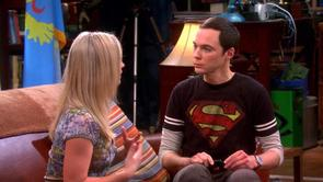 Sheldon's Black Superman Shirt